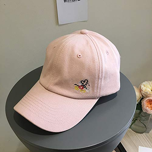 Sksngf Hut, Baumwollmaterial, bequem, leicht und dünn, die Größe ist einstellbar, leicht zu tragen, im Freien Sonnenhut, eine Vielzahl von Farben kann ausgewählt werden (Color : Rosa)