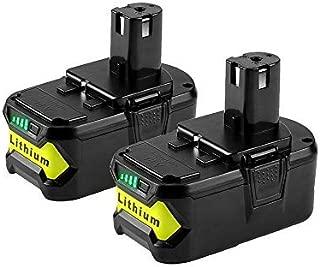 VANTTECH 2 Pack 18V 4.0AH P108 Lithium Battery for Ryobi 18-Volt P104 P105 P102 P103 P107 P122 Cordless Power Tool