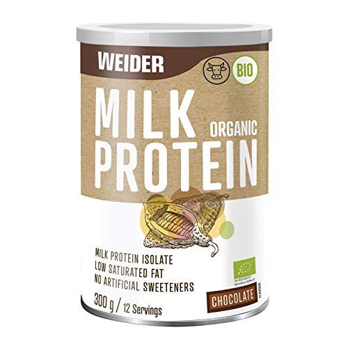 Weider Milk Organic Protein, Chocolate, Sustainable Organic Protein, Grass fed, Organic, no Artificial sweeteners, 100% Natural, 300g