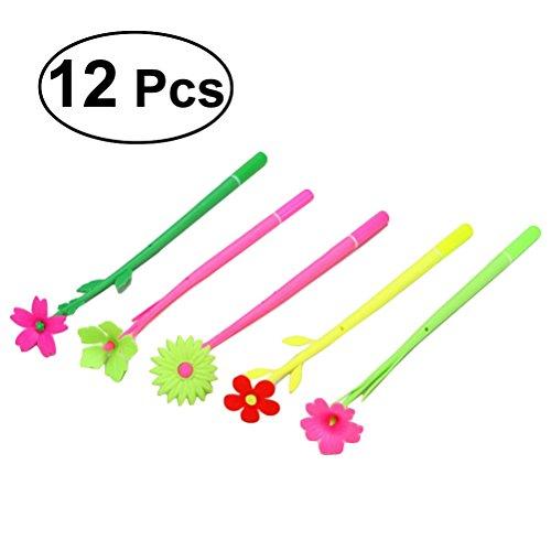 Penne divertenti a inchiostro TOYMYTOY Penna a forma di fiori per bambini 12PCS