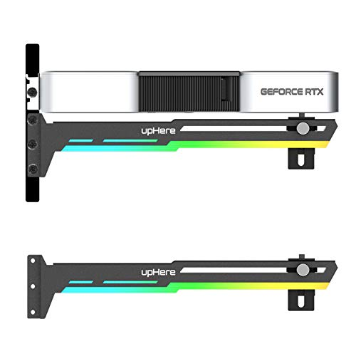 upHere Rainbow LED Grafikkarte GPU Brace Support-Videokarte Sehnenhalter/Holster-Halterung, GPU Halterung,Einzelsteckkarten,G276CF