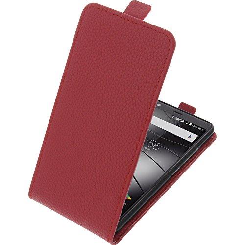foto-kontor Tasche für Gigaset GS370 / GS370 Plus Smartphone Flipstyle Schutz Hülle rot