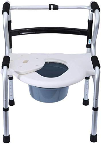 Z-SEAT Silla de Inodoro portátil, Inodoro Plegable, Inodoro, Inodoro, Inodoro, Inodoro, Inodoro, Inodoro, Bandeja para usuarios Ancianos discapacitados y discapacitados