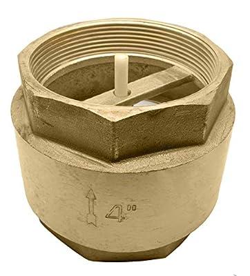 "4"" Brass in-Line Spring Check Valve - 200WOG from DuraChoice"
