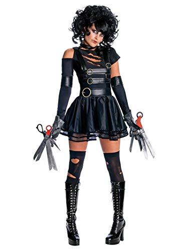 Rubie's offizielles Kostüm Miss Edward mit den Scherenhänden und Perücke für Damen, ausgefallenes Halloween-Kostüm