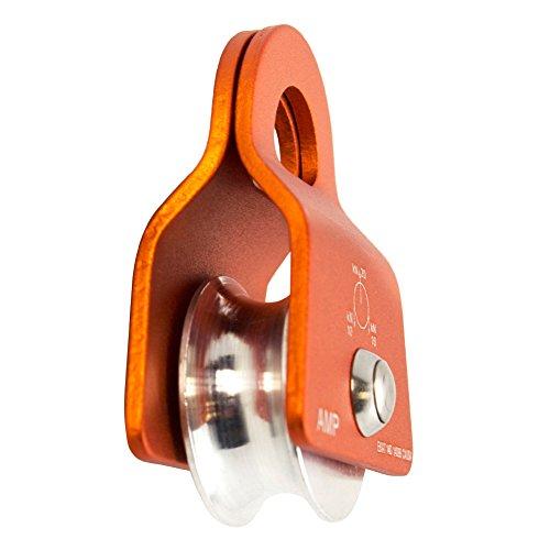Fusion Climb Ekat Micro Aluminum Side Swing Pulley Orange 20KN, 11MM ROPE (FP-8151)