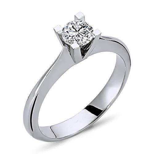 EinStein 14 k (585) oro blanco 14 quilates (585) bala Diamond