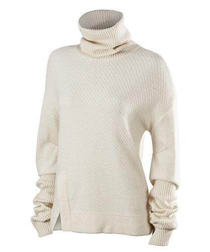 FALKE Damen Sweater Au Longsleeve, Cream, M