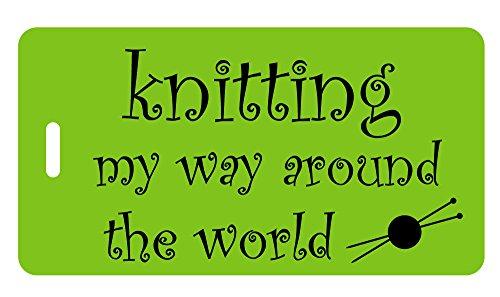 Knitting My Way Around the World - Bag Tag (Lime)