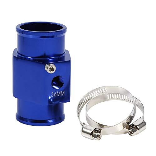 36mm Joint De Tuyau Capteur De Température De L'eau Bleue Manomètre Adaptateur De Tuyau De Radiateur