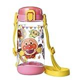 レック アンパンマン クリア 水筒 ボトル ( 直飲み タイプ ) 450ml ワンタッチオープン ピンク