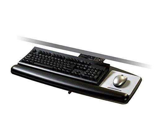 3M Lever-Adjust Keyboard Tray with Standard Platform, 21-3/4 Inch Track (AKT70LE),Black