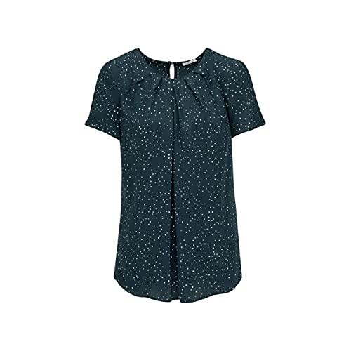 Seidensticker Damen Fashion kurzer Arm Bluse, Blau (19), 48
