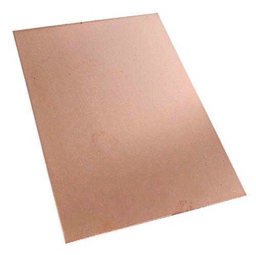 AERZETIX: Piastra foglio di rame per circuito stampato 100/75/1.0mm 18µm resina epossidica fibra di vetro C40587