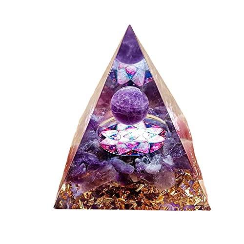 LUWEI Pirâmide de orgonita feita à mão/pirâmide de cristal Reiki, energia para meditação, proteção EMF, energia positiva, Fengshui, chakra, metafísica, decoração de casa