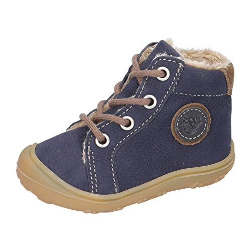 RICOSTA Unisex - Kinder Lauflern Schuhe Georgie von Pepino, Weite: Mittel (WMS),terracare, schnürschuh schnürstiefelchen,See,23 EU / 6 Child UK