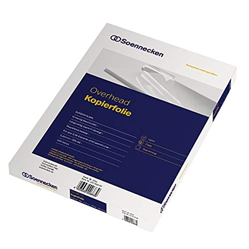 SOE OHP-Folie 5500 A4 0,089mm Papier an Schmalseite klar Pa=100St