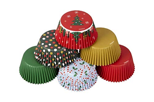 Wilton Standard Baking Cups-Christmas Traditional