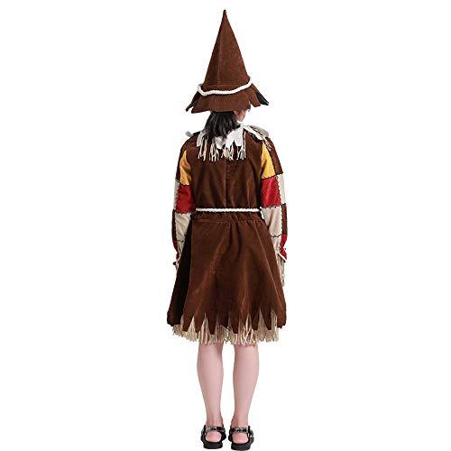 N / A Cosplay Halloween Novedad Regalo Disfraz para niños Mago Femenino de Oz espantapájaros Drama Traje de Escenario de Navidad Ou Mei Juego de Brujas Disfraz Body Height:105-120cm