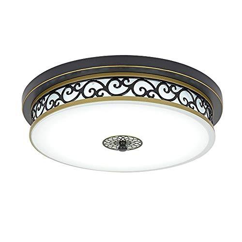 VanMe Estilo antiguo tradicional clásico de la luz de techo 18W llevó retro Metal Vidrio antiguo de la lám de techo redondo 30cm / 18w 6000K blanca fría
