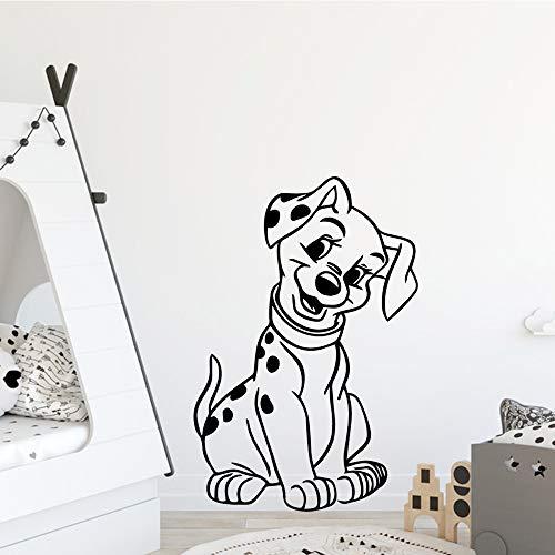Modeganqingg Lindo dálmata Impermeable Pared Arte Pegatina bebé habitación decoración Dormitorio Vinilo Papel Pintado Mural Negro m 20 cm x28 cm