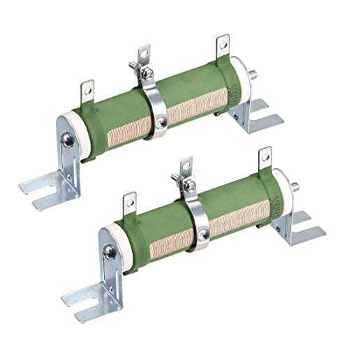 uxcell 30W 1K Ohm Wire Wound Tubular Resistor, Tube-Type Variable +/-5% Tolerance High Power Rheostat 2Pcs