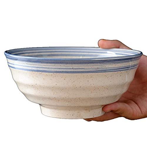 Cuenco de porcelana de Ramen vintage,Cuenco de porcelana de hilo pintado a mano,Ensaladera de sopa de estilo japonés seguro para microondas