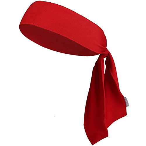 Leisial Unisexe Tête Foulard Serre Tête Bandeau Cheveux Prevent Sweating Belt pour Mouvement et Jouer au Tennis(Rouge)