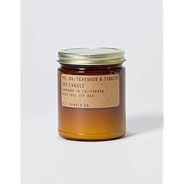 P.F. Candle Co. - No. 04: Teakwood & Tobacco Soy Candle (7.2 oz)