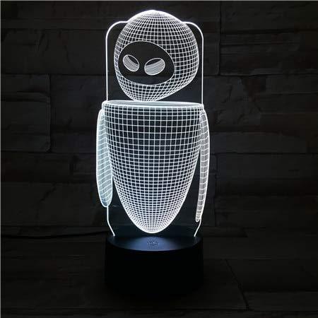 Sanzangtang Led-nachtlampje, 3D-visionzeven, kleuren-afstandsbediening, bureaulamp, slaapkamer, decoratie, cartoon apparaat, kindergadget, cadeau robots, nachtlampje, decoratie baby's, nachtlampje