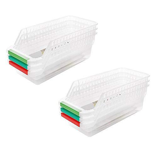 Clasificación de la cesta Creatividad Huevo Alimentación Cajón Caja de Almacenamiento Refrigerador Plástico Tejiendo Organizador Contenedores Transparente Titular