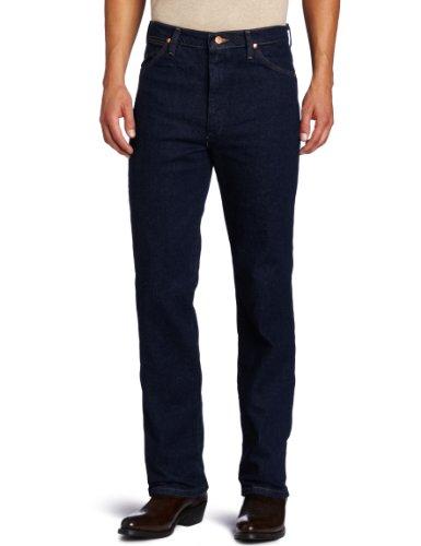 Wrangler Men's Western Slim Fit Boot Cut Jean, Navy Stretch, 34x32