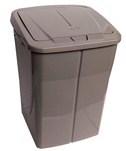 mondex PLS8082-28 Roll Top - Cubo de Basura de Reciclaje con Tapa de plástico (36 x 36,5 x 51 cm, 45 l), plástico, marrón, 45 L