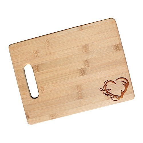 Fishing and Hunting Love Engraved Cutting Board, Valentines Gifts for Wife, Girlfriend, Country Wedding Gift for Couples - JS44.NC