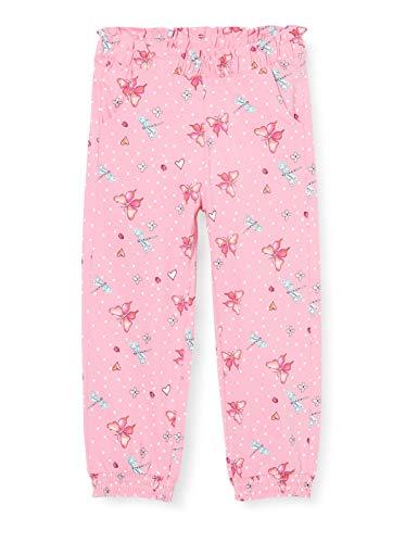 s.Oliver Junior Mädchen 403.10.004.18.183.2037913 Lässige Hose, 44A7 pink AOP, 128/REG