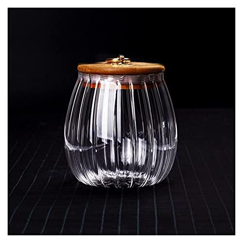 XIN NA RUI Bote Cristal Botellas de Almacenamiento de Alimentos de Almacenamiento de Vidrio Botellas de latas Selladas de Vidrio con Cubierta de té de té de Vidrio Flor de té de Flor Caja de Especias