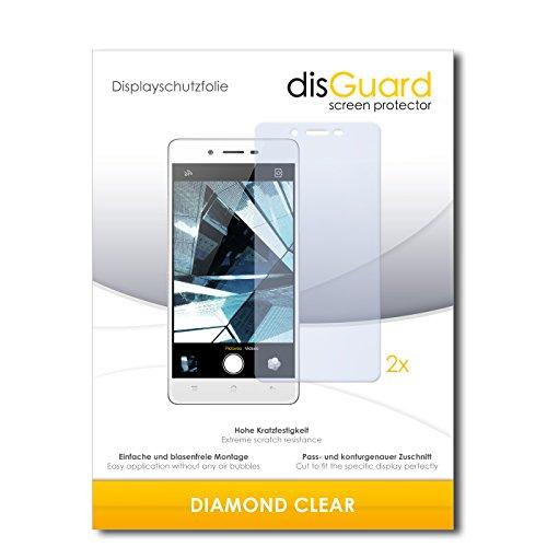 disGuard 2 x Bildschirmschutzfolie Oppo Mirror 5 Schutzfolie Folie DiamondClear unsichtbar