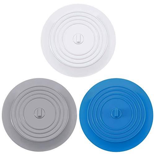 SITAKE 3 Piezas Tapón Drenaje Silicona para Bañera, Cubierta Grande Tapón Drenaje 6 Pulgadas para Cocina, Baño y Lavandería