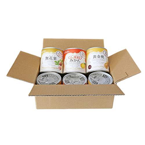 サヌキ 国産フルーツ缶詰 3種各2缶セット 小原紅みかん いちじく 黄金桃 ×各2 缶詰 国産 香川