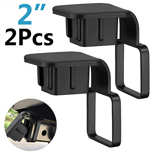 HURETEK Trailer Hitch Cover, 2 Pack 2 Inch Receiver Hitch Plug Insert Tube Hitch Plug Trailer Hitch Plug Receiver Tube Cover
