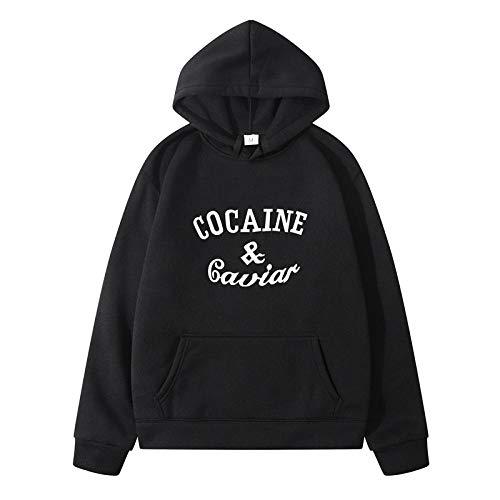 Herren Hoodie Kapuzenpullover Sweatshirt,Kapuze Frühling Winter Oberbekleidung Kleidung Cocaines Kaviar Hip Hop Hoodies Sweatshirts Für Männer Frauen Süße Hemden Hip Hop Harajuku Stil Streetw