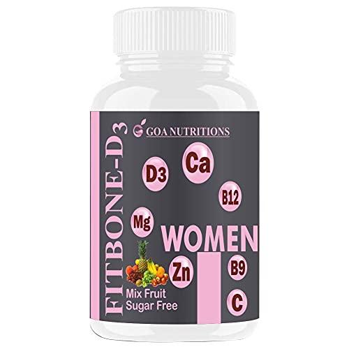 Veteran Goa Nutritions Calcium Supplement for Women with Vitamin D B12 Magnesium Zinc Ideal for...
