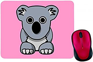 Alfombrilla para ratón, diseño de koala con animales, color gris, oso australienario en rosa