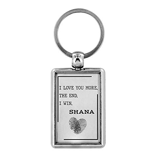 Funny Keychain Gift for Him Her I Love You More The End I Win Shana Valentine's Day Gifts for Husband Wife Girlfriend Boyfriend Anniversary Wedding Birthday Couple Key chain