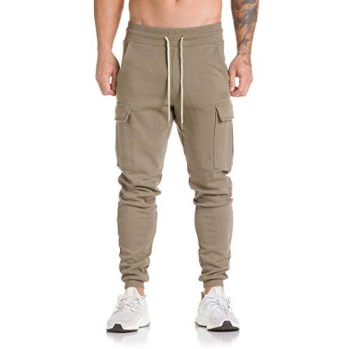 Dasongff joggingbroek voor heren, joggingbroek, sweatpants, slacks, vrije tijd, jogger, dans, sportwear, baggy joggerbroek met trekkoord