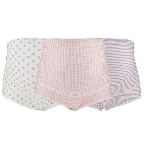 FTVOGUE 3-teiliges Set Baumwolle Schwangere Unterwäsche verstellbar große Größe hohe Taille atmungsaktiv Mutterschaft Slip (XXL-02)
