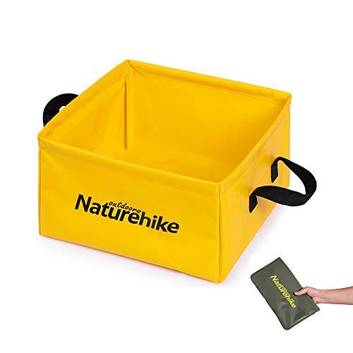 折りたたみ式 バケツ 13L 便利 軽量 丈夫 コンパクト 洗濯 水の容器(イェロー)