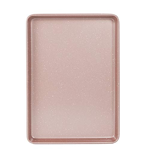 Cook with Color Bakeware Non Stick Baking Sheet, Speckled 10×15 inch Classic Cookie Sheet, Roasting Sheet (Rose Gold)