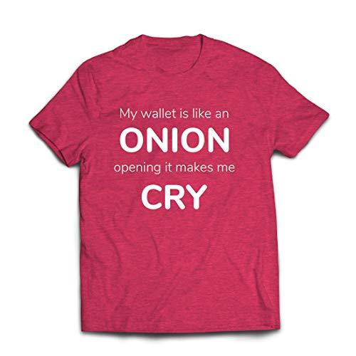 lepni.me T-shirt voor mannen, portemonnee is als uien, geen geld, grappig werk, humor kantoor