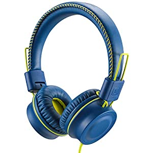 POWMEE M2 Kids Headphones Wired Headphone for Kids,Foldable Adjustable Stereo Tangle-Free,3.5MM Jack Wire Cord On-Ear…